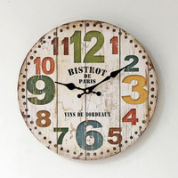 Hot Sale Wall Sticker Living Room Decoration Quiet Clock [6451857222]