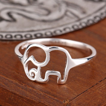 925 Sterling Silver Ring Elephant Ring