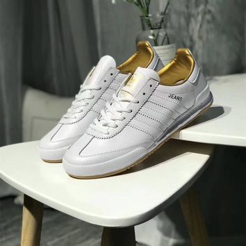"""""""Adidas Jeans MKII"""" Men Fashion Solid Color Leather Surface Retro Casual Plate Shoes Sneakers"""
