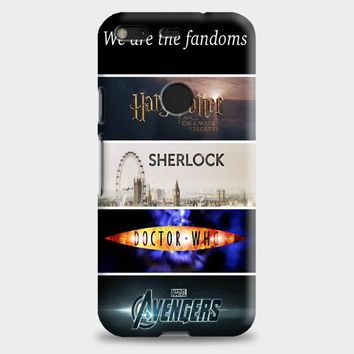 Fandoms Harry Potter Sherlock Doctor Who Avengers Google Pixel XL Case