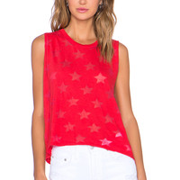 Nation LTD Crescent Heights Star Tank in Flag Red