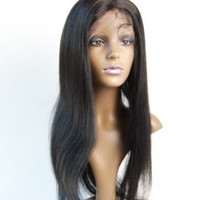 Virgin Brazilian Straight Hair Wig Remy Hair Wig Full Lace Wig Handmade Brazilian Hair Wig #1 Free Shipping