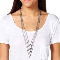 4 Row Arrow Necklace