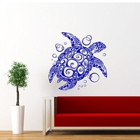 Sea Turtle Wall Decal Ocean Sea Animals Tortoise Decals Wall Vinyl Sticker Home Interior Wall Decor for Any Room Housewares Mural Design Graphic Bedroom Wall Decal Bathroom (5868)