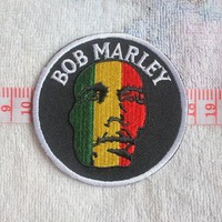 Embroidery Patches Punk Rock Band Patches BOB MARLEY Iron on 7.5X7.5CM Z2