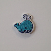 Small Whale Iron on Patch