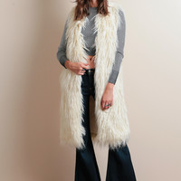 Manhattan Skyline Fur Vest