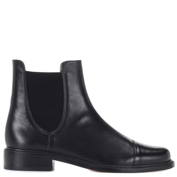 Charlene Bronson leather Chelsea boots