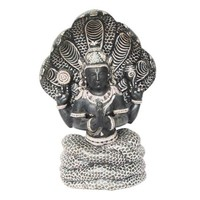 Mogul Patanjali Statue Hand Carved Gorara Stone Sculpture With 5 Headed Serpent 8 Inch - Walmart.com