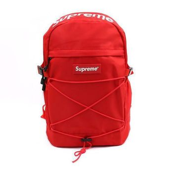 PEAPC8S Red 'Supreme' Stylish Backpack Travel Bag
