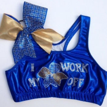 I work my bow off Sports Bra and bow combo