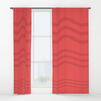 African Roots Coral Theme b Window Curtains by carmenrayanderson