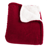 Shelley Red Super Soft Melange Waffle Throw