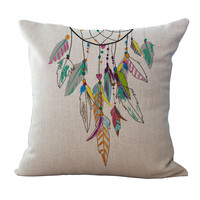 Fantasy Dream catcher pillowcase Print windows and decorative pillow cover waist cushion pillow case