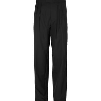 Raf Simons - Wide-Leg Pleated Wool Trousers
