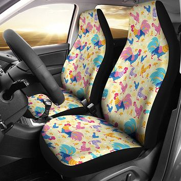Rainbow Chicken Car Seat Cover