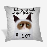 The Little Ugly Grumpy Cat Pillow Case