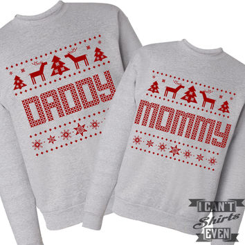 Mommy Daddy Ugly Christmas Sweaters