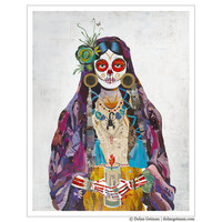 Day of the Dead, Sugar Skull, 16 x 20 Print