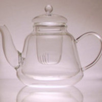 Double Layer Glass Teapot-Oval Shaped-Contains 400