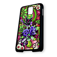 Anchor Bird Pattern Paisley Samsung Galaxy S5 Case