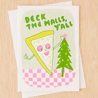 Yellow Owl Workshop Pizza Deck The Halls Holiday Card