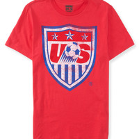 Aeropostale Mens Team USA Soccer Graphic T-Shirt - Red,