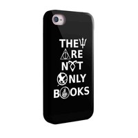 They Are Not Only Books Harry Potter Divergent Percy Jackson for Iphone and Samsung Galaxy Case (Samsung Galaxy S5 White)