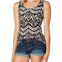 Soft Brushed Tribal Blur Tank