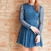Aurelie Lace Dress - Teal