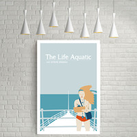 The Life Aquatic with Steve Zissou, Wes Anderson, Movie Poster Art.