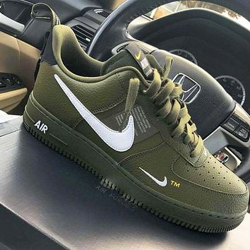 NIKE AIR FORCE 1 07 LOW 2018 new men and women casual fashion wild sports  shoes 0dc1249049b7