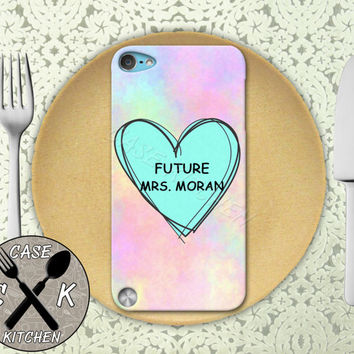 Future Mrs. Moran Pink Pastel Tumblr Candy Heart Custom Rubber Case iPod 5th Generation and Plastic Case For The iPod 4th Generation