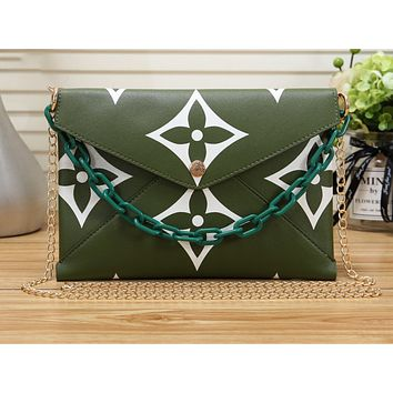 LV Fashion Sell Printed Women's Single Shoulder Bag Green