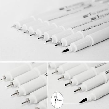 Marvy Sketch Liner Brush 0.03mm 0.05mm 0.1mm 0.3 0.5 0.8 1.0mm Water Resistant Gundam Drawing Pen Design Comic Painting Supplies