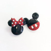 Mickey & Minnie Earrings,FE Gift, Mickey Mouse Earrings, Fish Extended Gift