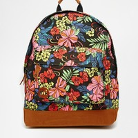 Mi-Pac Backpack in Tropical Floral Print