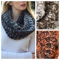 Ombre' Style Knit Blend Infinity Scarves