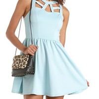 Cutout Zip-Back Scuba Dress: Charlotte Russe