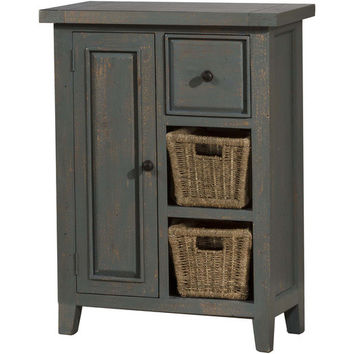 5834-1024W Tuscan Retreat ® Coffee Cabinet with (2) Two Shelves and Baskets