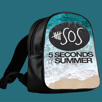 5SOS Beach Poster for Backpack / Custom Bag / School Bag / Children Bag / Custom School Bag *