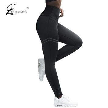 CHRLEISURE Fitness Leggings Women High Waist Leggins Fashion Push Up Legging  Polyester Activewear Bodybuilding Jeggings