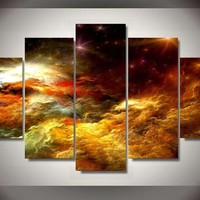 Universal Eruption 5-Piece Wall Art Canvas