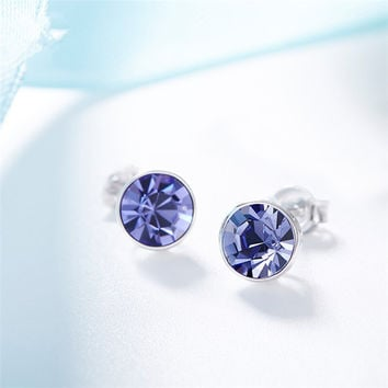 Korean Silver 925 Stylish Crystal Earrings [10427406228]