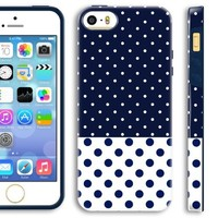 5s Girl Cases, Akna Glamour Series [Flexible TPU]*[High Impact]*[Teen Girl Case] Soft Back Cover for iPhone 5 5S [Lovely Baby Pink Dots](U.S)