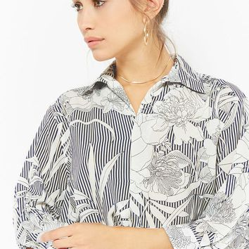 Striped Floral Shirt