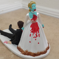 Zombie Wedding Cake Topper by MSM Creations