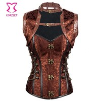 Sexy Corsets and Bustiers Burlesque Costume Gothic Corpetes E Espartilhos Plus Size Corset Jacket Corselet Steampunk Clothing