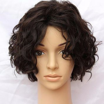7A Malaysian human hair wig sale short hair wig 8 inch bob lace wigs with bangs