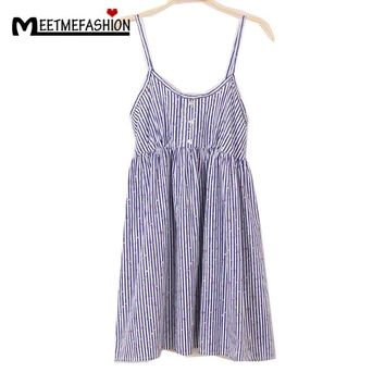 Pleated Floral Summer Dress Women Beach Cute Dresses Spaghetti Strap Casual New Woman Dress